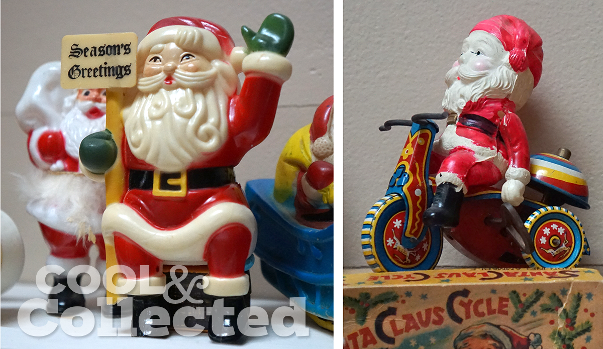 vintage retro santa collection