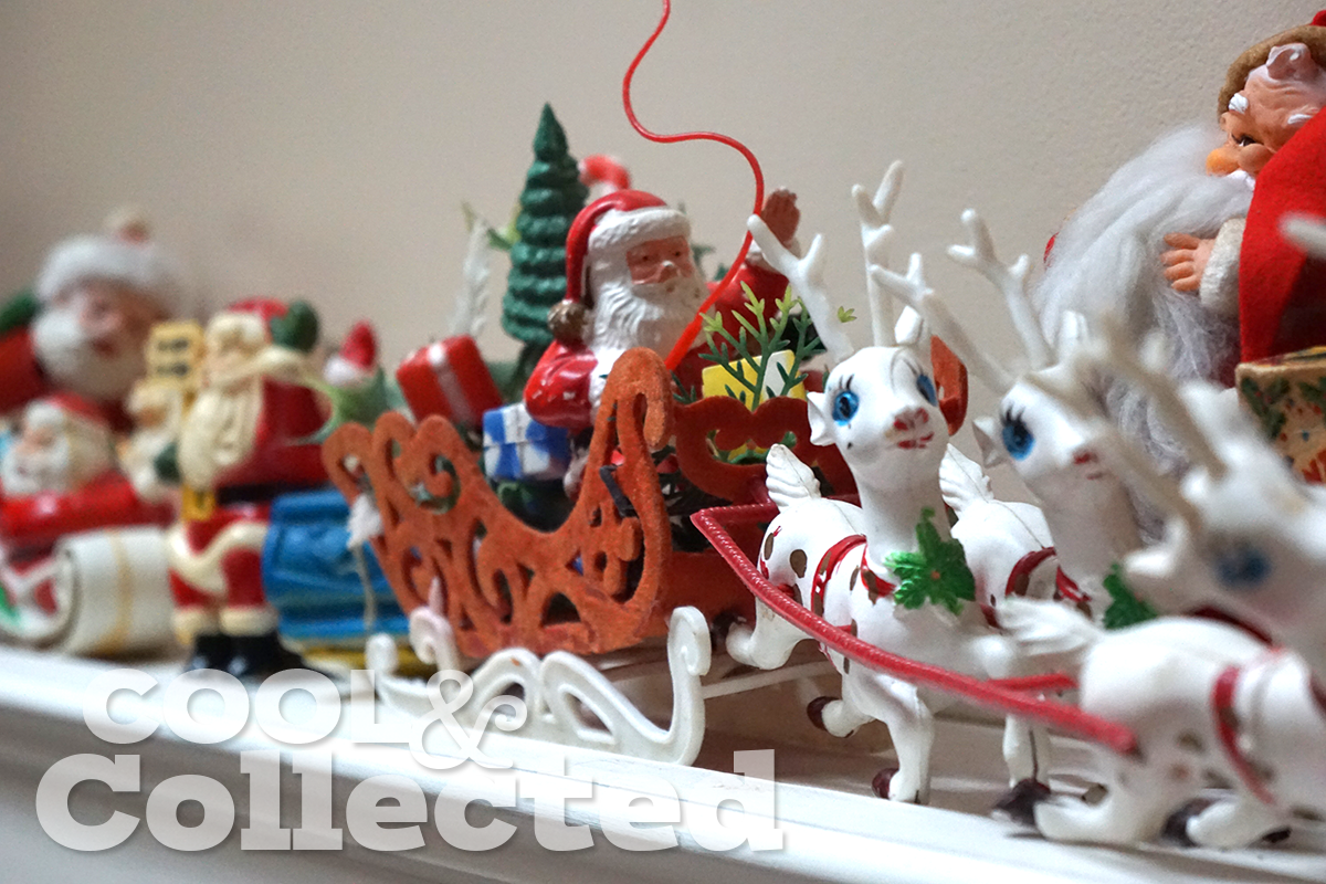 vintage kitschy santa collection