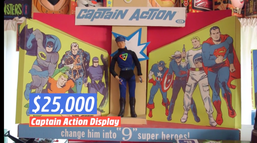 Captain Action figure display