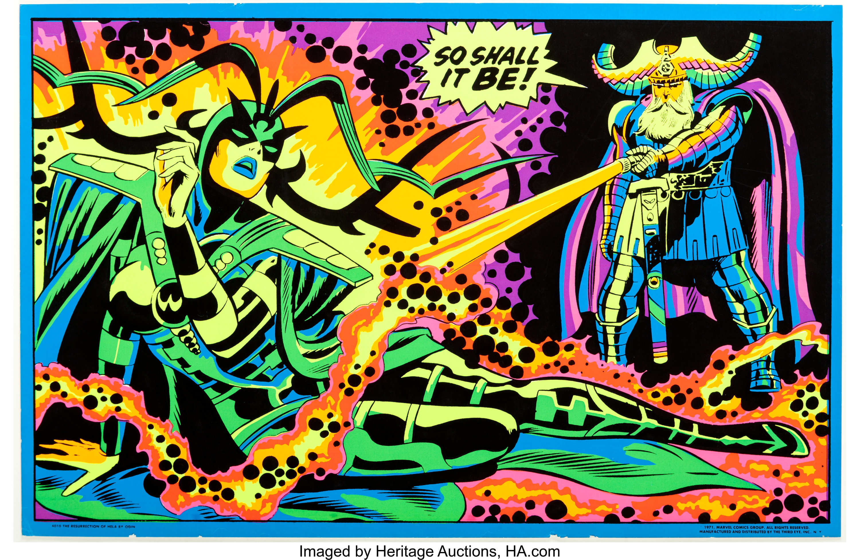 Marvel Third Eye Blacklight poster