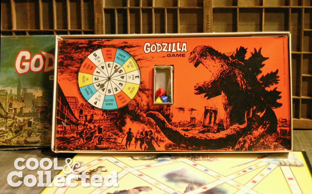 Godzilla board game by Ideal 1963 insert