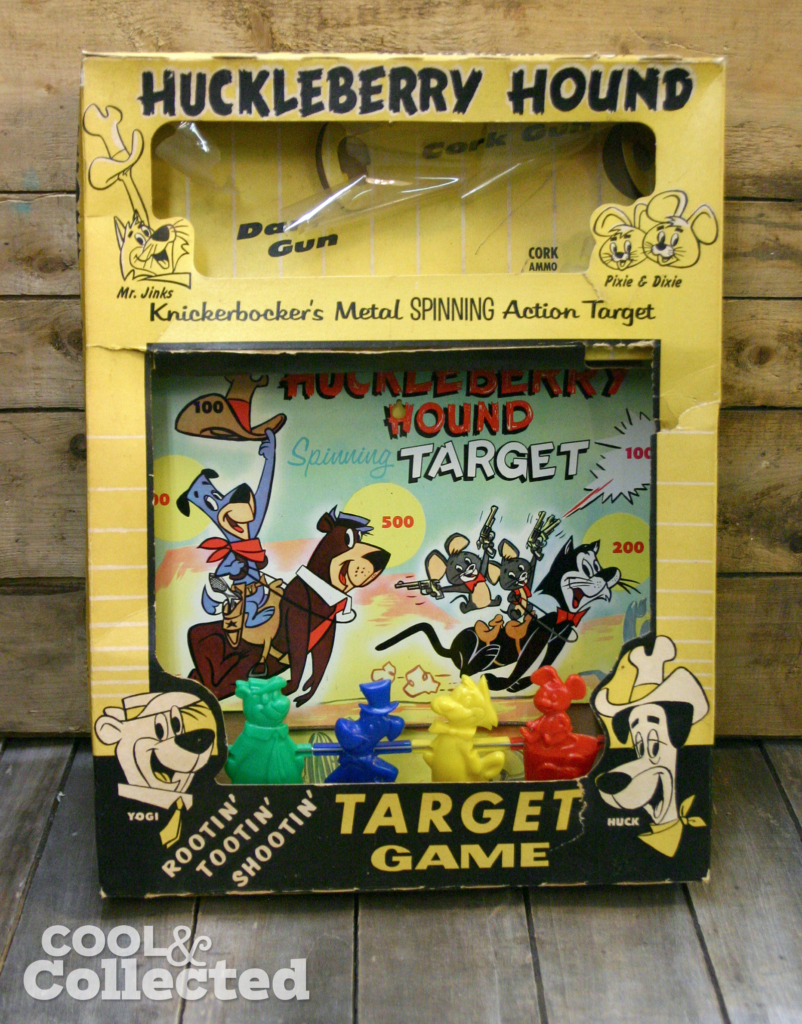 Huckleberry Hound Target set 1952 Knickerbocker Toys