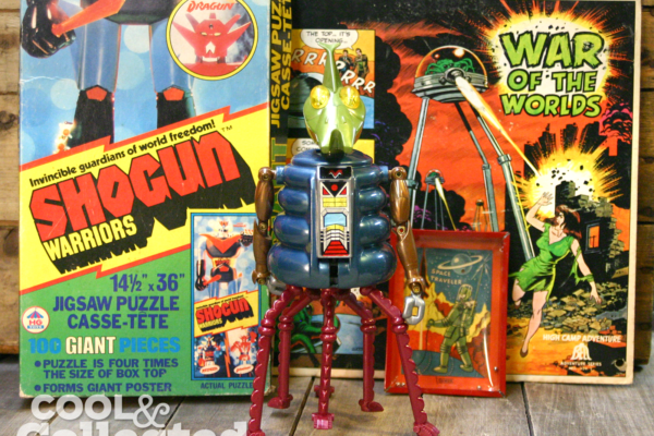 Vintage space themed toys