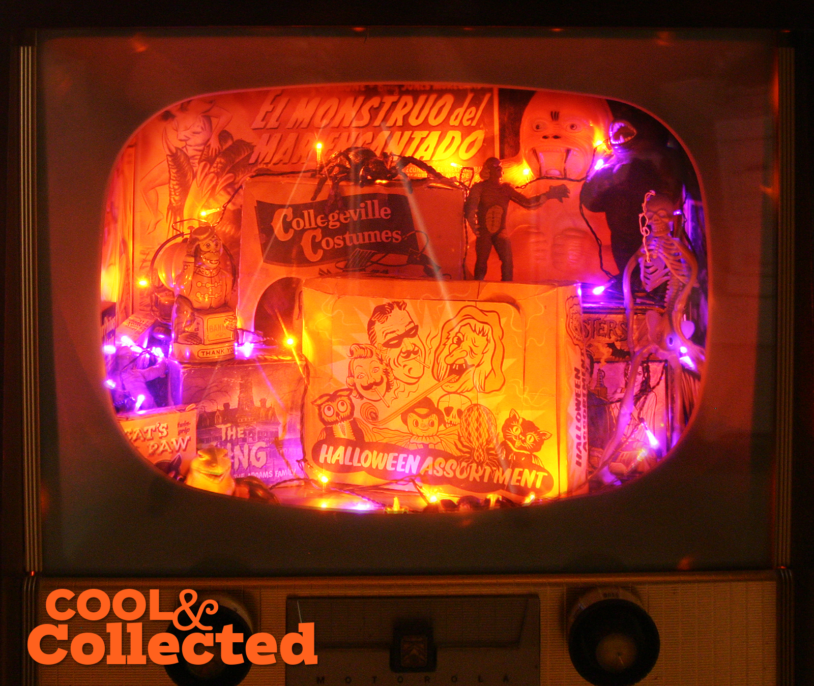 Vintage halloween display