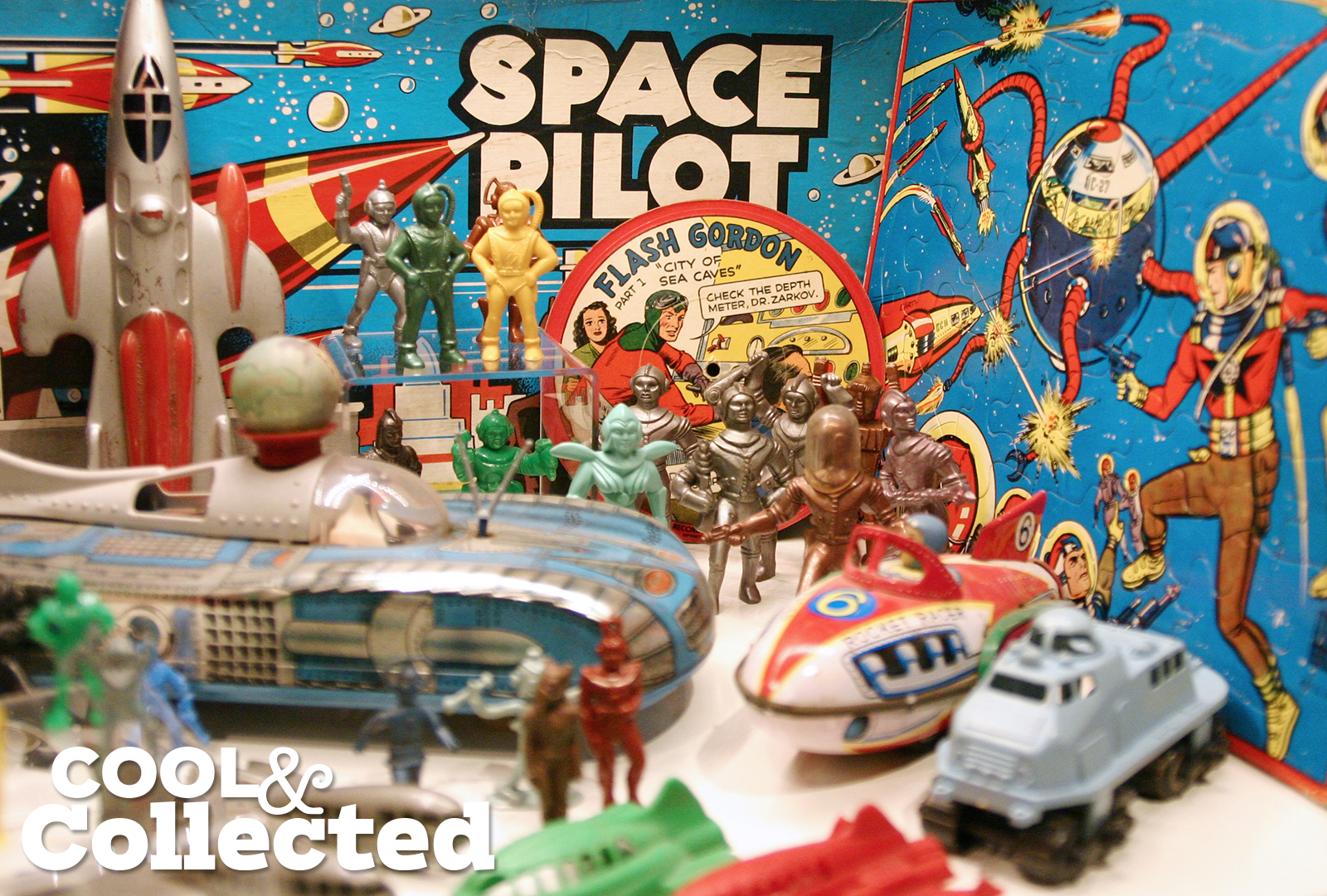 vintage plastic spacemen from the 1950's