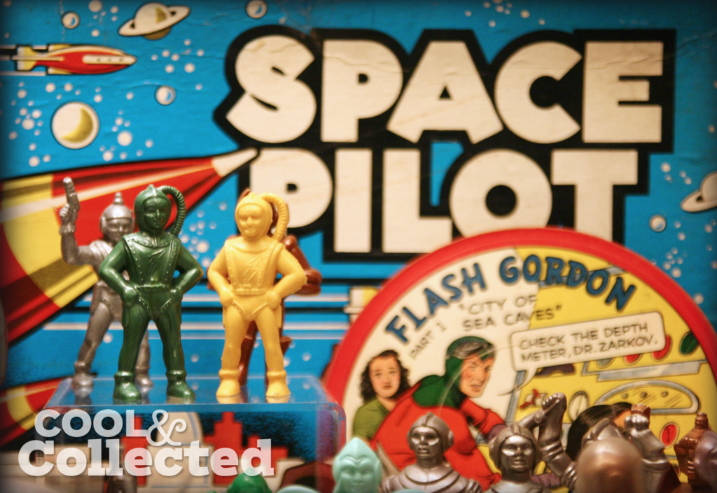 Vintage plastic spacemen collection