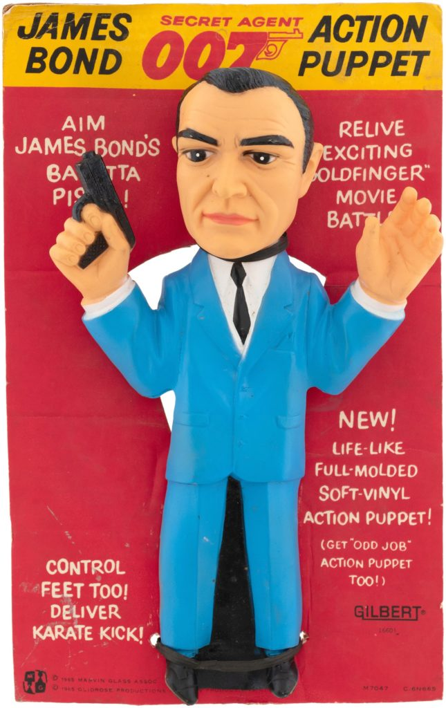 James Bond action puppet secret agent