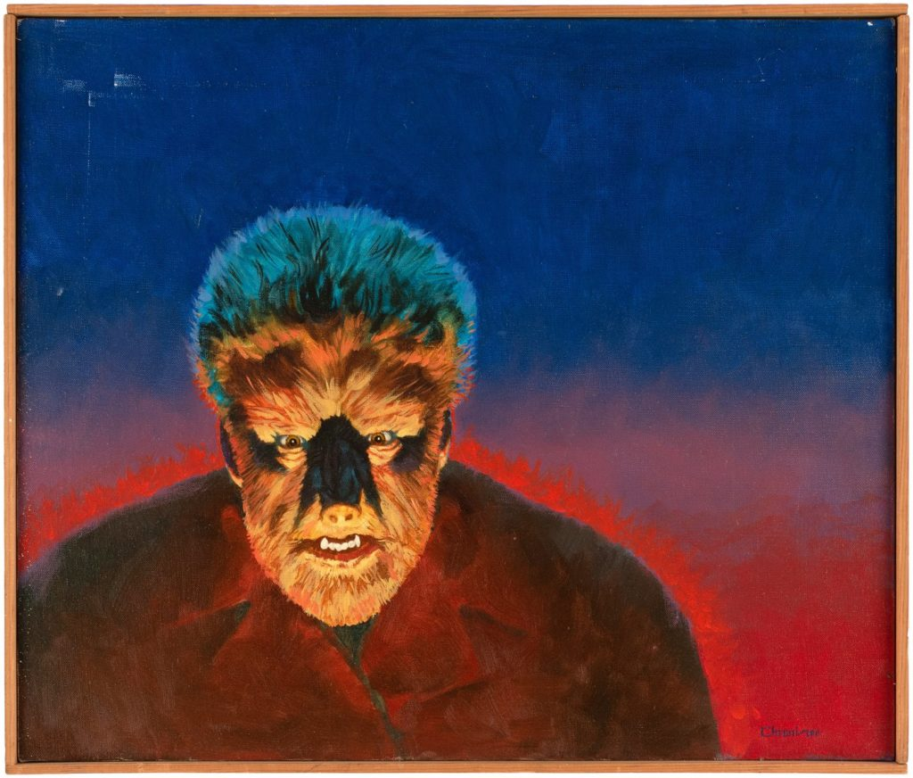 Remco original wolf man painting art