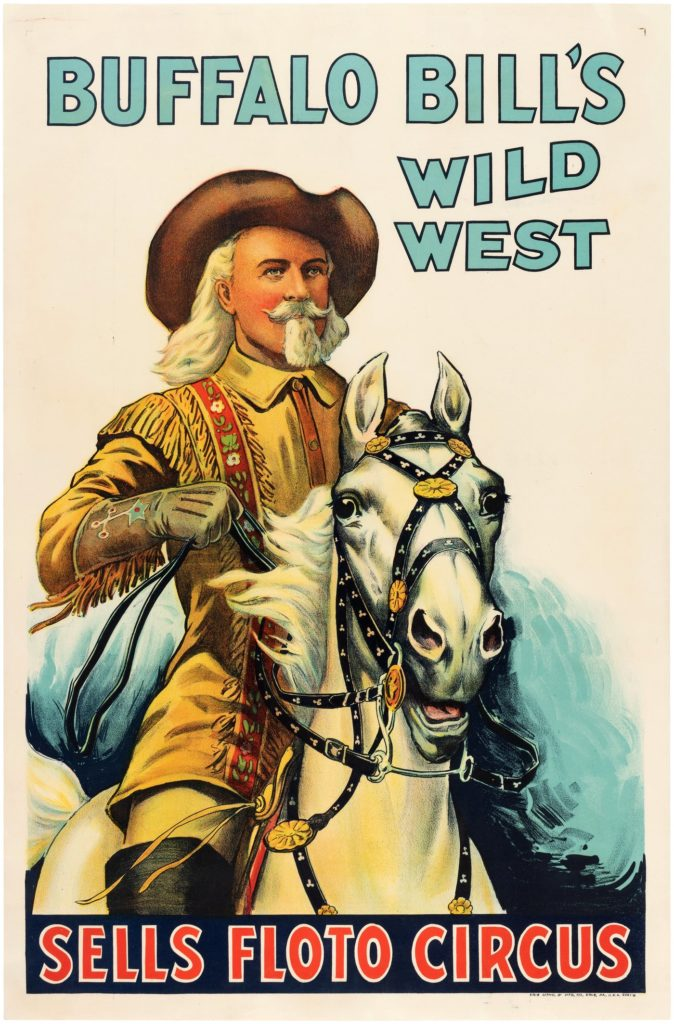 Wild Bill Cody Sells Floto Circus Poster